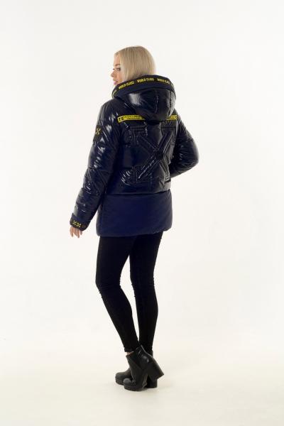 Куртка женская зимняя OFF WHITE (цвет тёмно-синий)