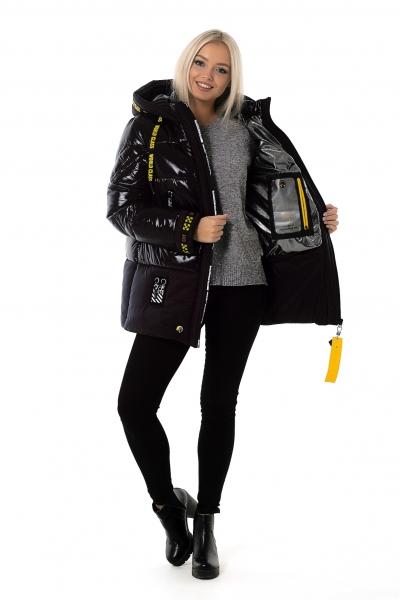 Куртка женская зимняя OFF WHITE (цвет черный)