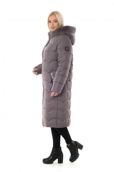 Пуховик жіночий зимовий на силіконі BETTY UPG (колір темно-бежевий)