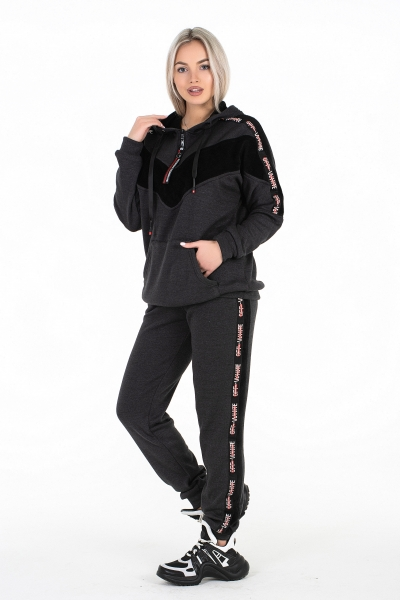 Женский спортивный костюм (цвет тёмно-серый)